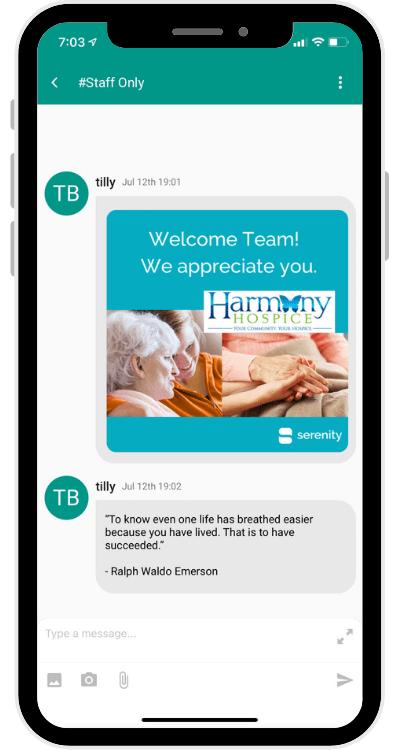 Screenshot STAFF Harmony Hospice Welcome (1)